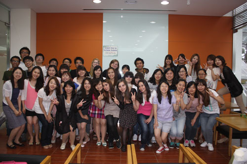 farewell party for international exchange students